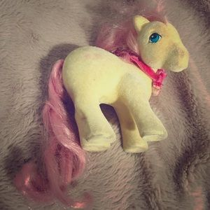 Vintage my little pony yellow flocked
